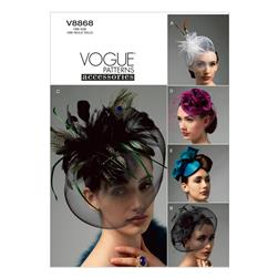 Vogue Hats Pattern V8868 Size OSZ