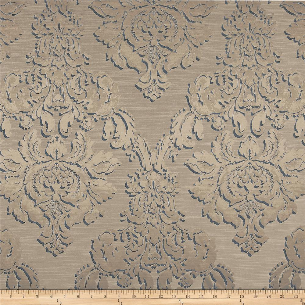 World wide damask jacquard chandler champagne discount for Fabric world