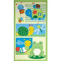 Pond Pals Panel Frogs Lime