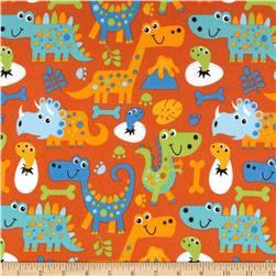 Dino Pals Flannel Dinos Orange