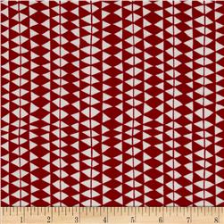 In the Forest Organic Woolen Blanket Red/White