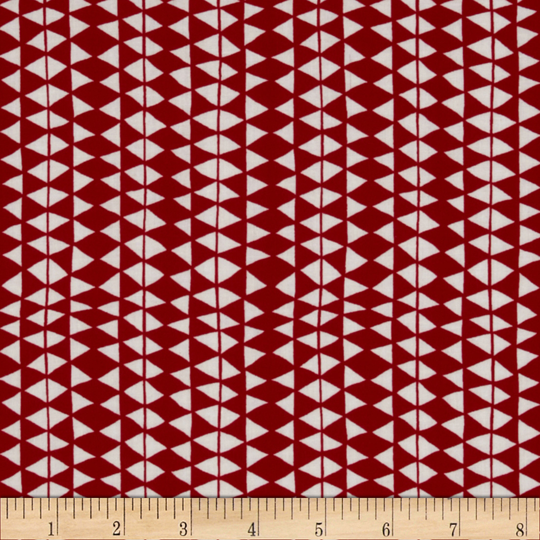 In the Forest Organic Woolen Blanket Red/White Fabric