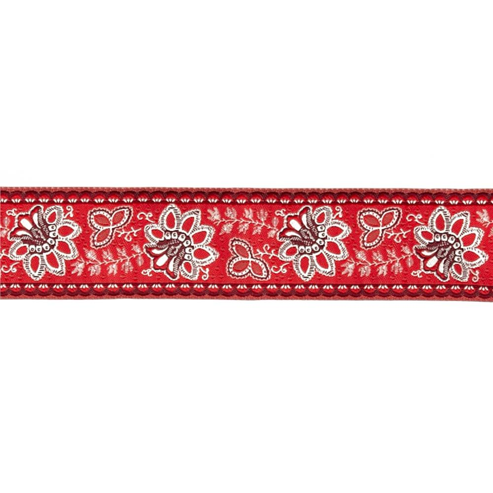 "1 1/2""French General Flowers on Red"