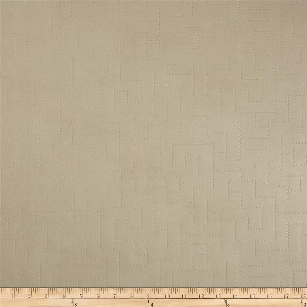 Richloom Faux Leather Greek Key Koronis Cream