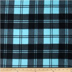 Winterfleece Double Take Plaid Turquoise/Black Fabric