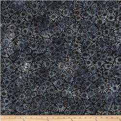 Batavian Batiks Flower Field Black/Gray