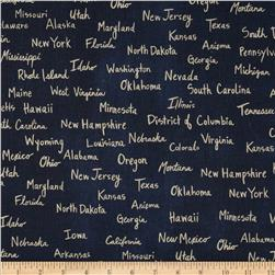 Cotton & Steel Home Decor Canvas State Words