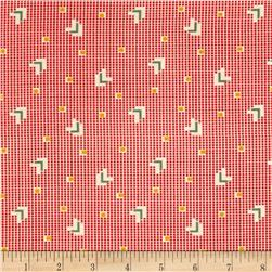 Back Porch Prints Chevrons Bright Red Fabric