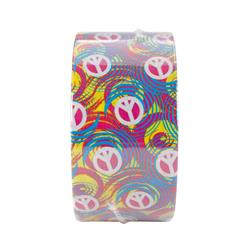"Patterned Duck Tape 1.88"" x 10yd-Swirl Peace Sign"