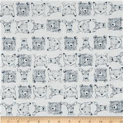 Dear Stella Blue Moon Woodland Critters White