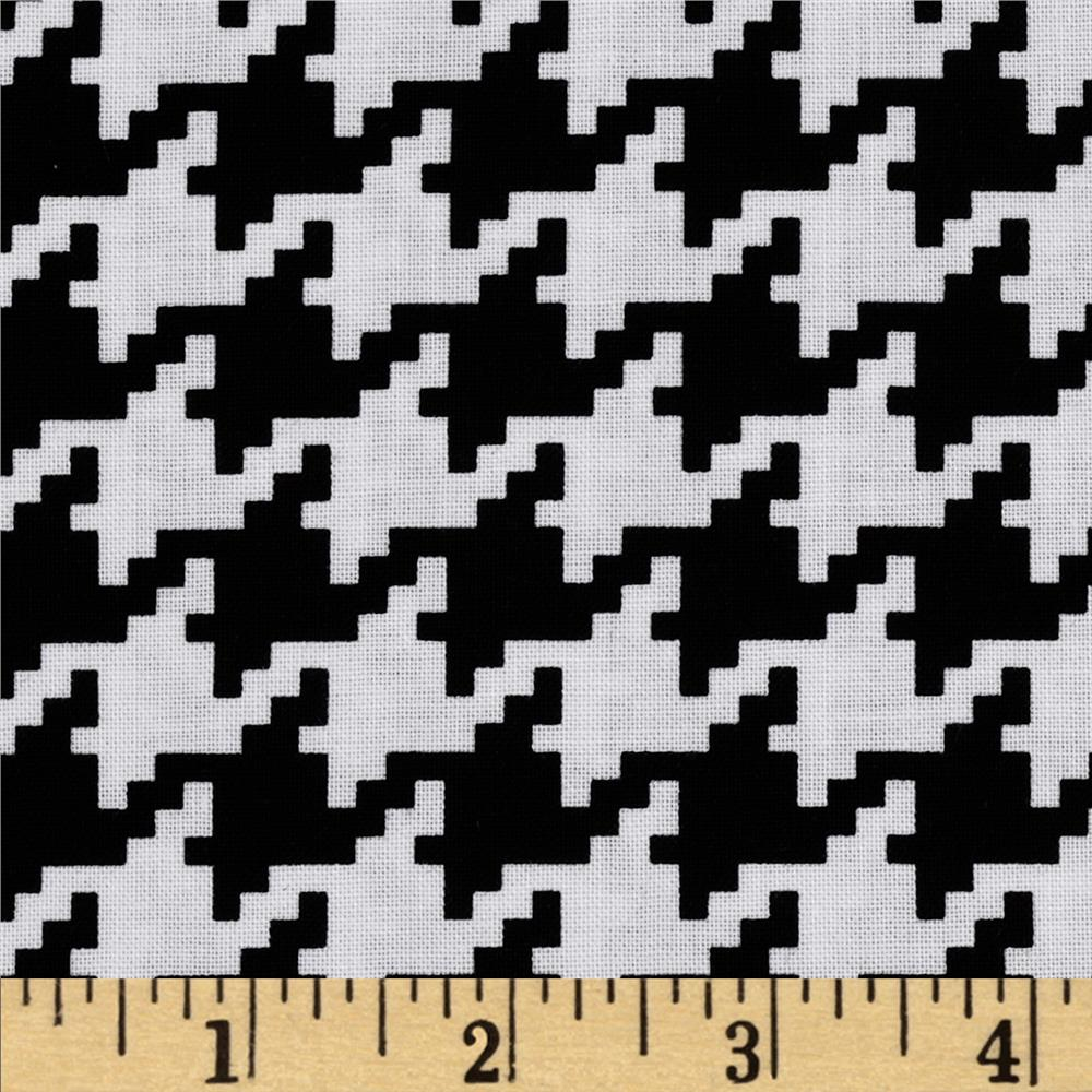 Michael Miller Everyday Houndstooth Black
