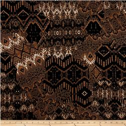 ITY Knit Abstract Mosaic Tan Black