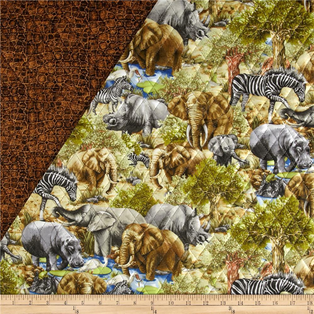 Jungle Party Double Sided Quilted Animals Multi