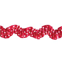 "Riley Blake 1"" Gathered Grosgrain Ribbon Hot Pink"