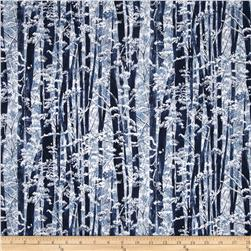 Yuki Metallic Trees Frost/Silver Fabric