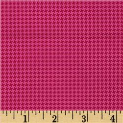 Silly Gilly & Friends Houndstooth Pink