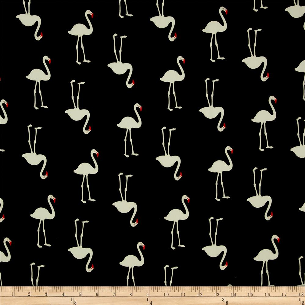 Telio Flamingo Crepe de Chine Eggshell/Black/Red