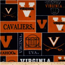 Collegiate Fleece University of Virginia Orange Fabric