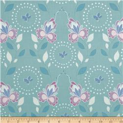 Hot House Flowers Floral Spray Blue