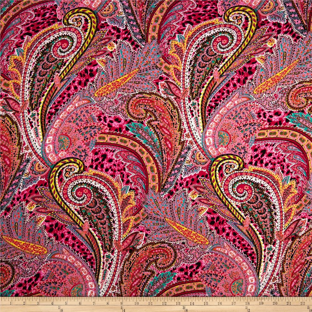 Telio Rayon Voile Abstract Pink/Multi