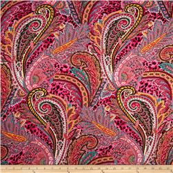 Rayon Voile Abstract Pink/Multi