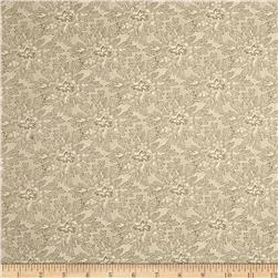 Moda Under the Mistletoe Holly Damask Linen/Mistletoe