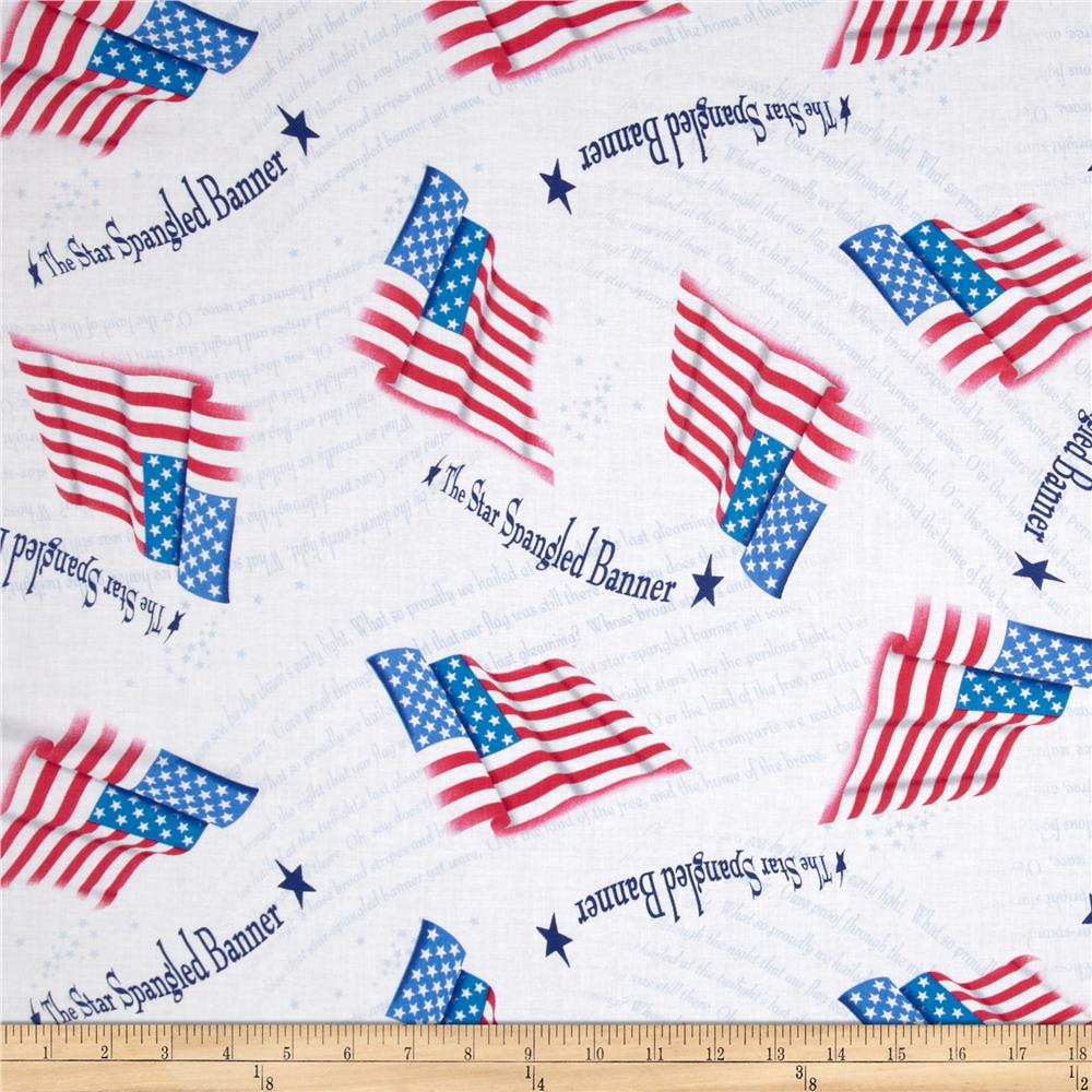 A Nation's Song Star Spangled Banner White