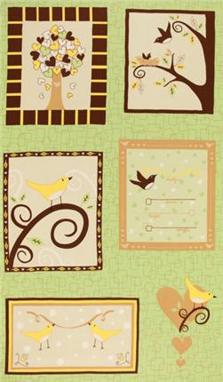 Chirp! Birth Record Panel Summer Green