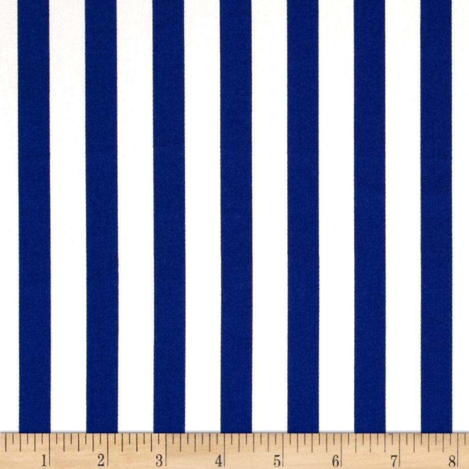 Harlequin Stretch Cotton Sateen Stripe Blue/White