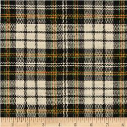 Designer Yarn Dyed Flannel Plaid Black/Green