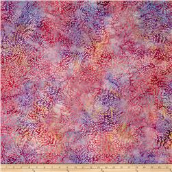 Indonesian Batik Dahlia Allover Purple