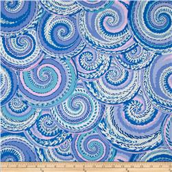 Kaffe Fassett Collective Curly Baskets Delft Fabric
