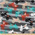 Michael Miller It's A Boy Thing Motorama Grey