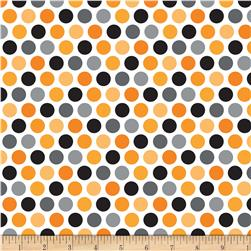 Riley Blake Halloween Parade Halloween Dot Orange Fabric