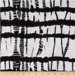 Stretch Rayon Hatchi Knit Abstract Black/White