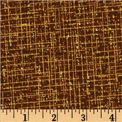 Quilter's Burlap Metallic Chocolate