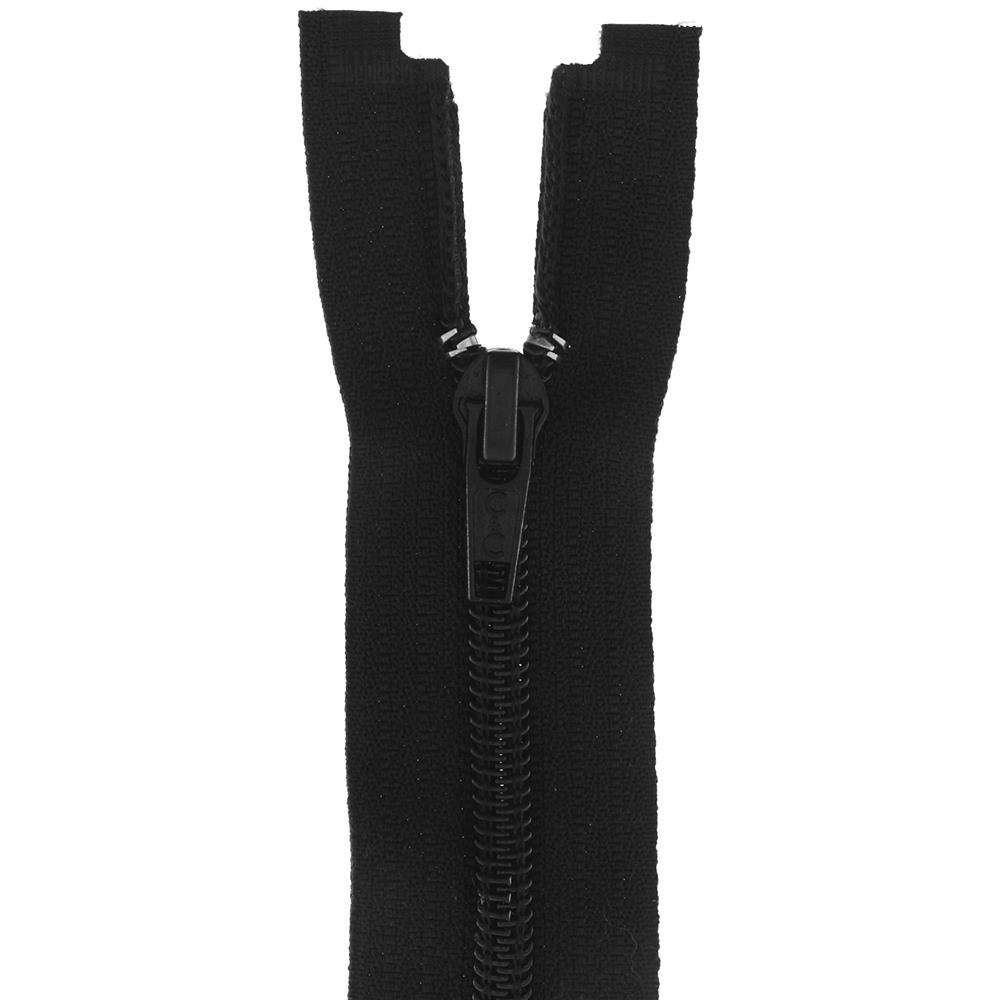"Coats & Clark Coil Separating Zipper 14"" Black"