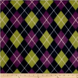 Polar Fleece Argyle Lime/Purple