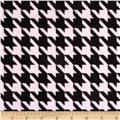 Minky Houndstooth Light Pink/Black