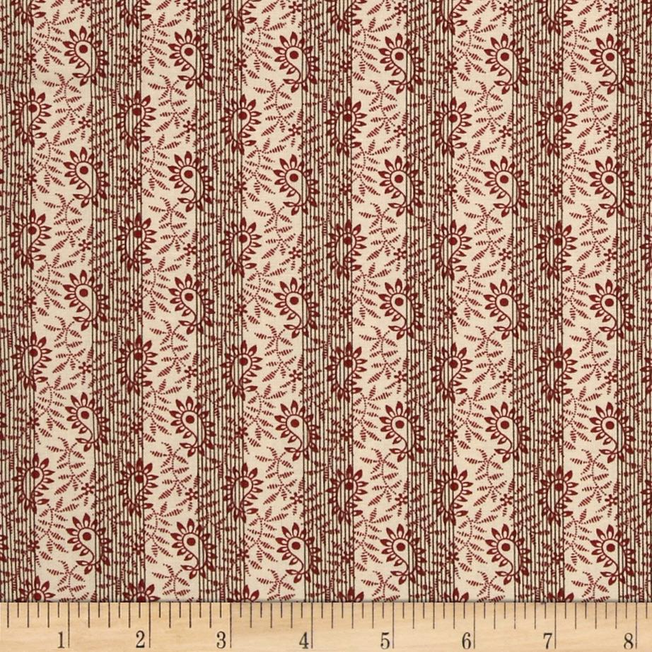 Hannah's Heritage Paisley Vine Red