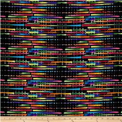 Black, White & Bright Metallic Woven Mat Black/Multi