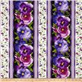 "Timeless Treasures Viola 11"" Pansy Stripe Black"