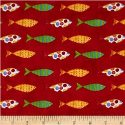 Sea Shanty Fish Red