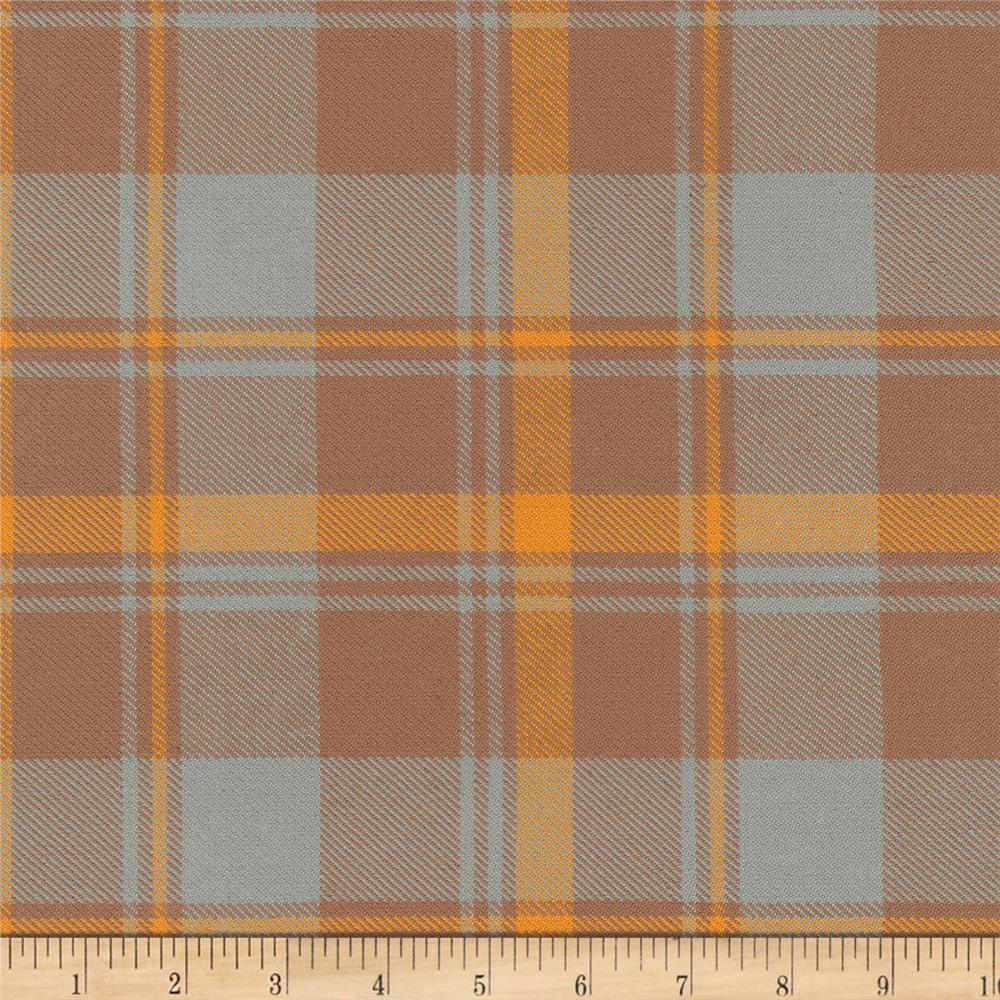 Kaufman Grizzly Plaids 6.6 Oz Twill Plaid Traditional Plaid Butterscotch