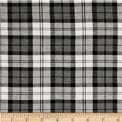 Yarn Dyed Flannel Plaid Gray/White/Black