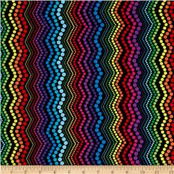 Kanvas Bright Idea Rainbow Zigzag Black