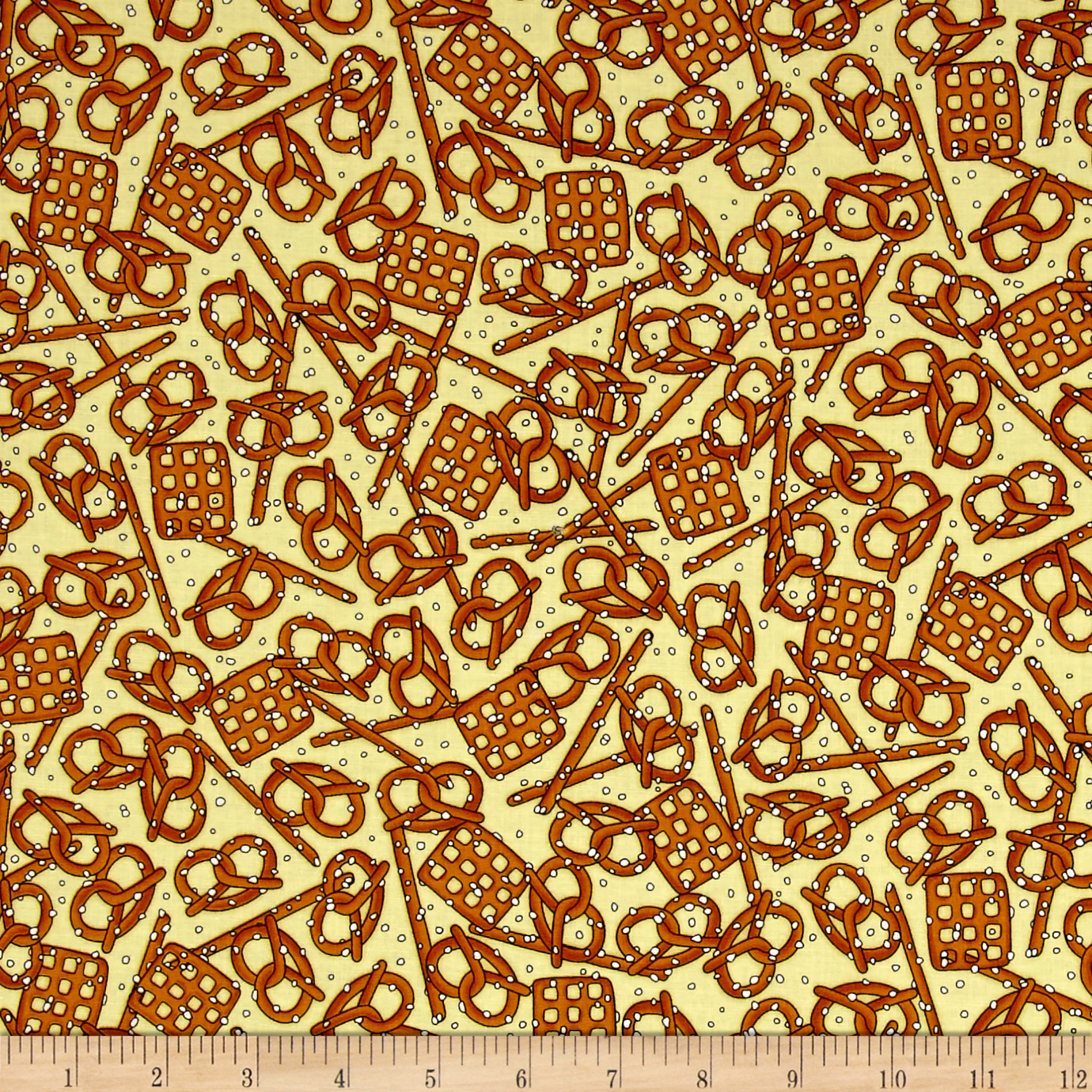 Image of In Doubt Drink Stout Pretzels Wheat Fabric