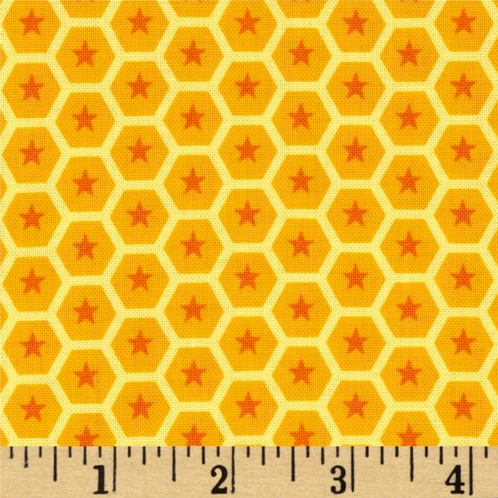 At the Zoo Tonal Honeycomb Yellow