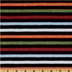 Minky Cuddle Striped Black/Red