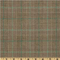 Yarn Dyed Plaid Suiting Black/Green